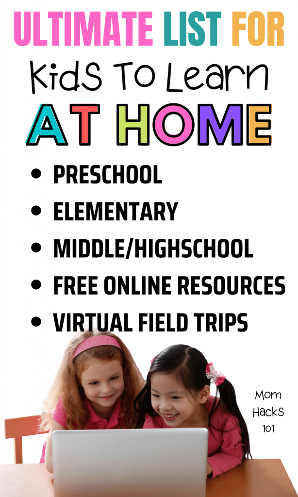 Free at home learning resources for kids