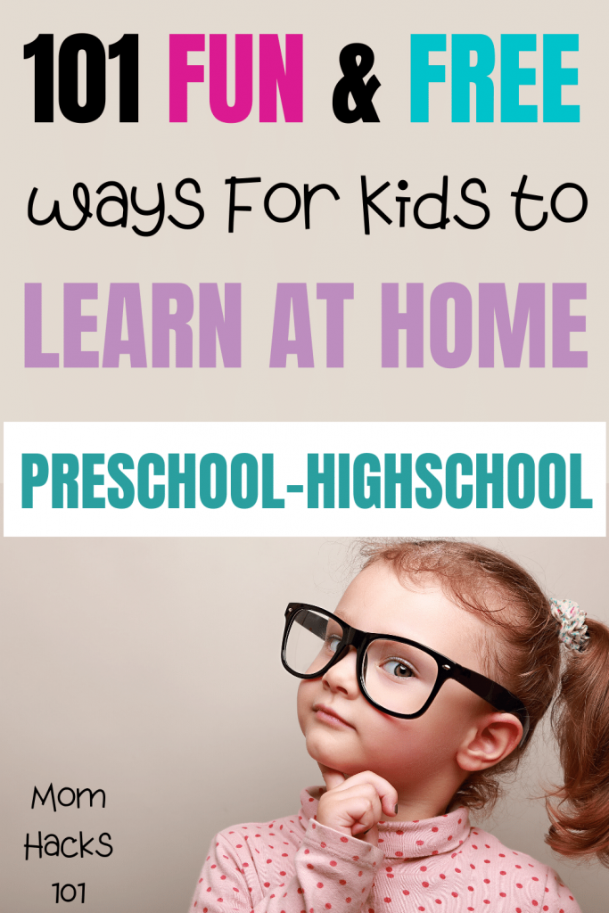 Fun Ways To Kids To Learn At Home