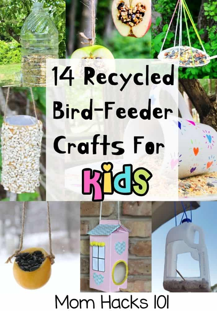 Easy Recycled Crafts Birdfeeder Projects