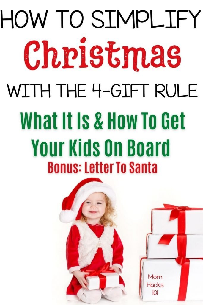 The 4 Gift Rule for Christmas